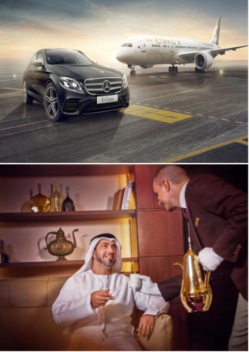 Пассажиров класса «Резиденция» доставят к авиалайнеру на спецтранспорте. | Фото: etihad.com.