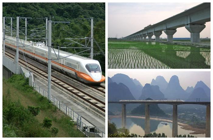 Виадук Чжанхуа-Гаосюн, является частью тайваньской железной дороги.