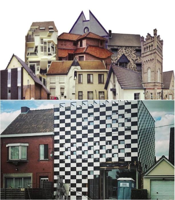 Так бывает, когда воплощают мечту всего семейства одновременно («Ugly Belgian Houses»). | Фото: thescottishsun.co.uk.