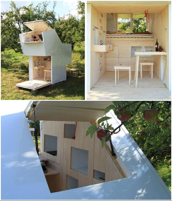Мини-дом «Soul Box» – идеальное место для работы и отдыха в полном уединении. | Фото: inhabitat.com/ sustainablesimplicity.com.