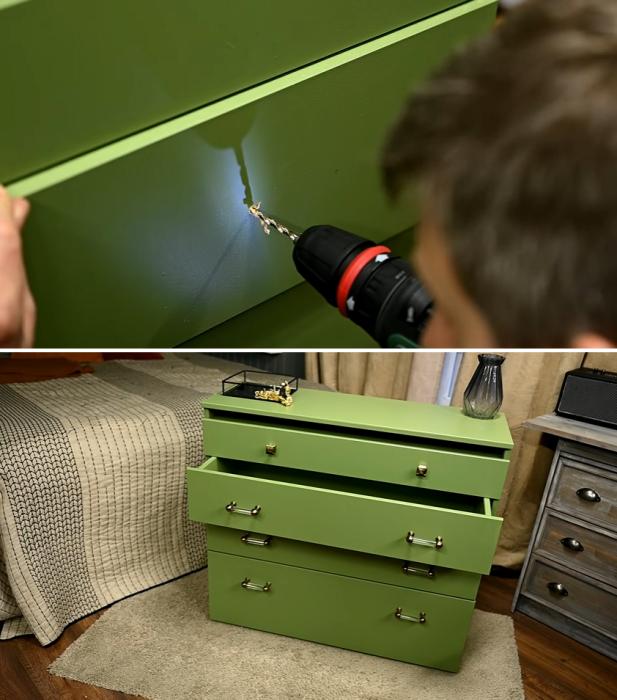 Последний штрих и комод может занимать достойное место в интерьер спальни. | Фото: youtube.com / © My DIY life.