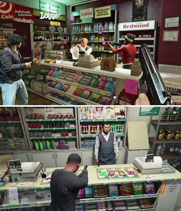 В криминогенных районах и на окраинах городов маленькие магазины очень часто подвергались нападению грабителей. | Фото: youtube.com.