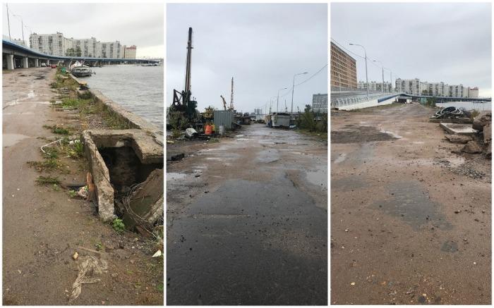 Даже до такой набережной жильцы лофт-квартала Docklands не могут добраться (Санкт-Петербург). | Фото: fontanka.ru.
