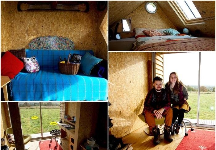 Всего за 1500 долларов молодая пара создали уютный домик из строительных отходов и вторсырья.