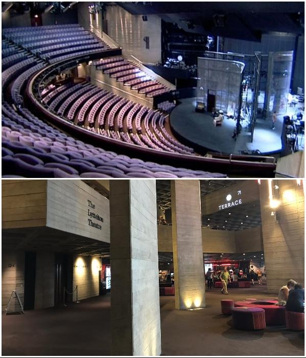 Сцены театра вмещают около 2,4 тыс. зрителей (Royal National Theatre, Лондон). | Фото: richardpilbrow.com/ tripadvisor.ru.
