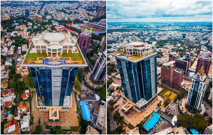 На крыше небоскреба построен не только особняк (Kingfisher Tower-Residences, Бангалор). Фото: lemurov.net/ blognews.am.