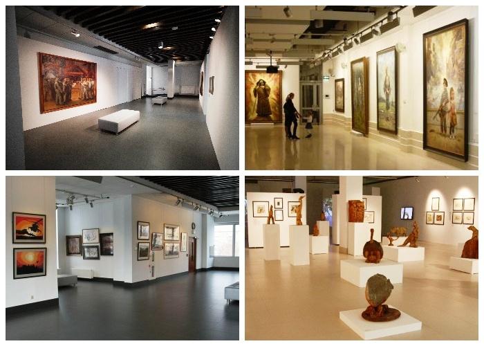 На трех этажах постоянно проходят всевозможные выставки и мероприятия (Монумент «Рабочий и колхозница»).