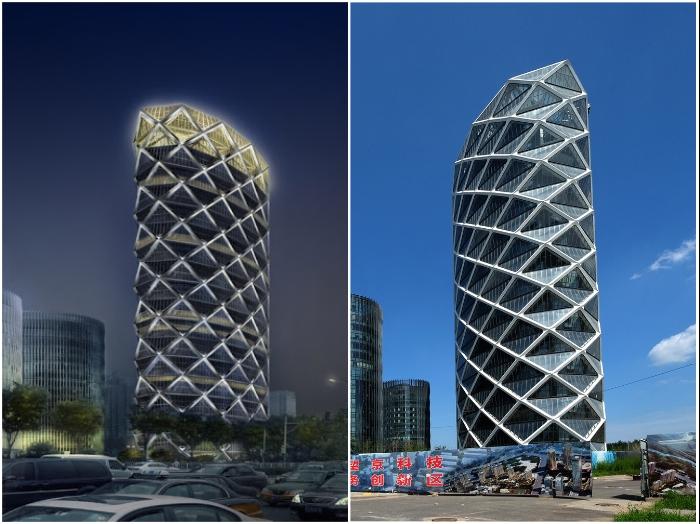 Отель «Poly International Plaza» является украшением делового квартала Пекина (Китай). | Фото: dichandadang.com/ skyscrapercity.com.