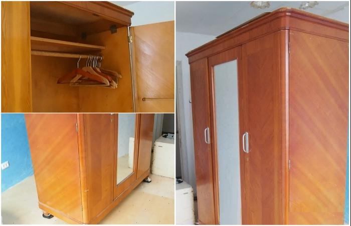 Устаревший добротный шкаф может вдохновить на создание современной модели.