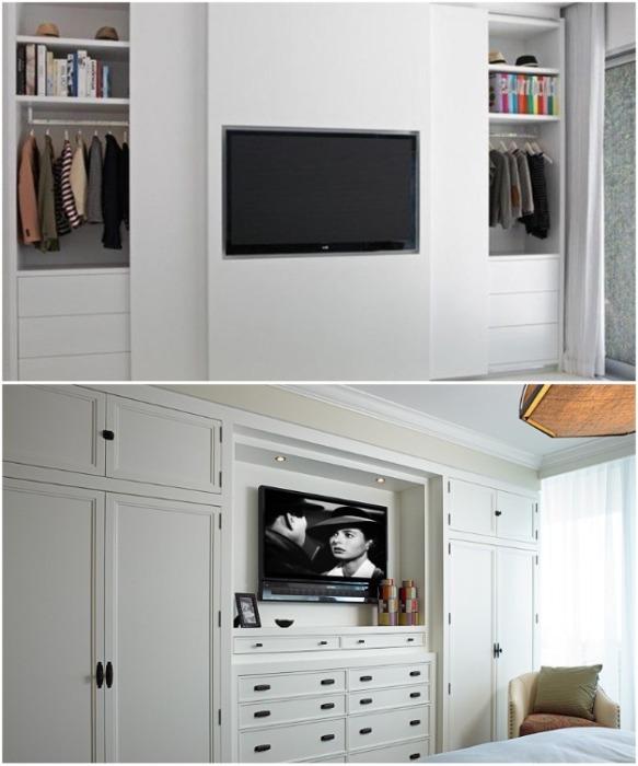Встроенная мебель в интерьере малогабаритной квартиры. | Фото: yandex.uz.