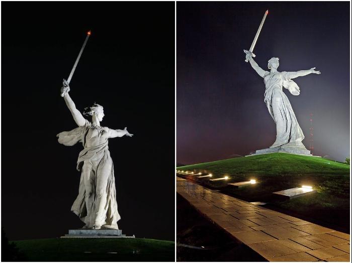 Легендарный монумент «Родина-мать» до реставрации больше нравился волгоградцам. | Фото: dostoyanie-pokoleniy.ru/ hodor.lol.