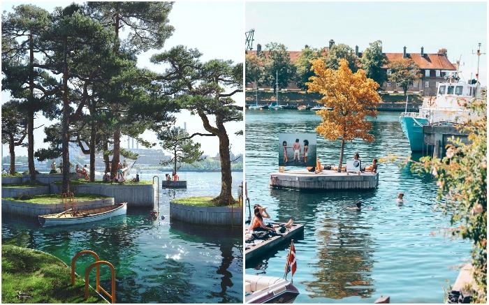 В Копенгагене появится искусственный архипелаг из плавучих островов, на которых разобьют городские парки для отдыха, занятий водными видами спорта и рыбалкой (Copenhagen islands).