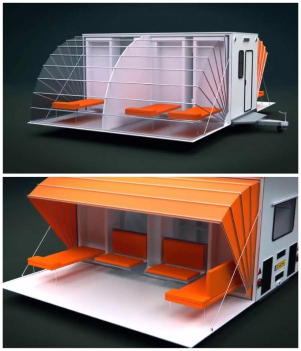 Концеп «De Markies» получил главную награду на фестивале за лучший дизайн, проходивший в Роттердаме в 1996 г. | Фото: youtube.com/ Wheelyhouse.