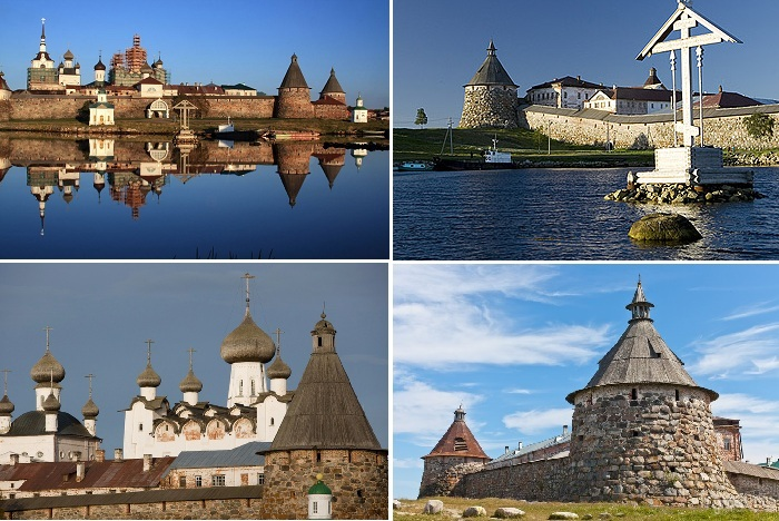 Знаменитый Спасо-Преображенский соловецкий монастырь (Россия).