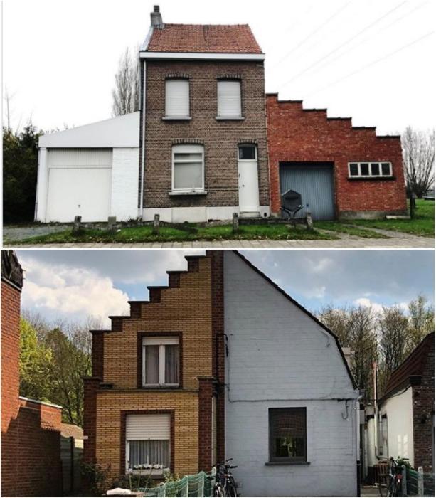 У каждого из владельцев свое представление о прекрасном («Ugly Belgian Houses»). | Фото: ko-kr.facebook.com.