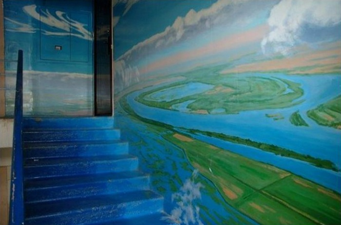 Здесь можно часами рассматривать фантастический вид земного ландшафта с высоты полета современного спутника. | Фото: golbis.com.