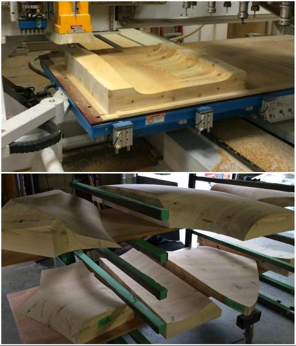 Все элементы внутреннего убранства вырезаны из древесины местного кедра («Grotto», Канада). roomble.com.