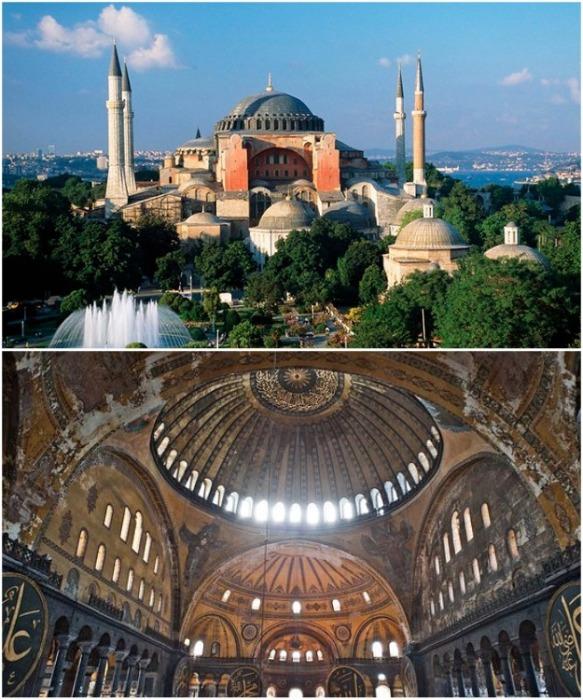Минареты вокруг собора Св. Софии созданы не византийскими мастерами, а появились намного позже. | Фото: travelermap.ru.