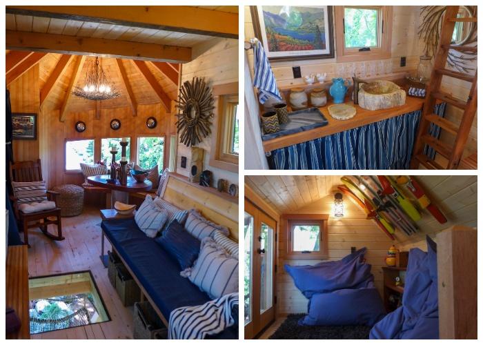 Интерьер дома на озере Челан (США).