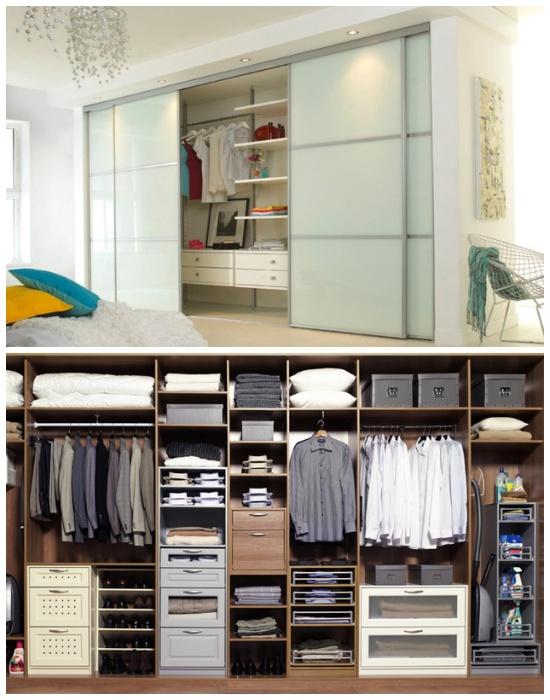 Разумное распределение вещей и предметов внутри систем хранения облегчит пользование и поиск. | Фото: s-kupe.com.