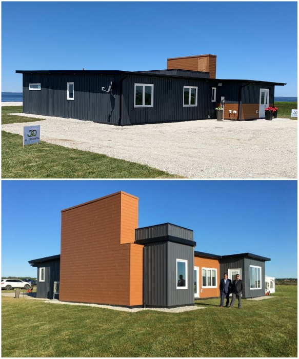 Для строительства Beach House  было использовано более 184 панелей, созданных из 612 тыс. выброшенных пластиковых бутылок (Новая Шотландия, Канада). | Фото: newsru.ca/ meteovesti.ru.