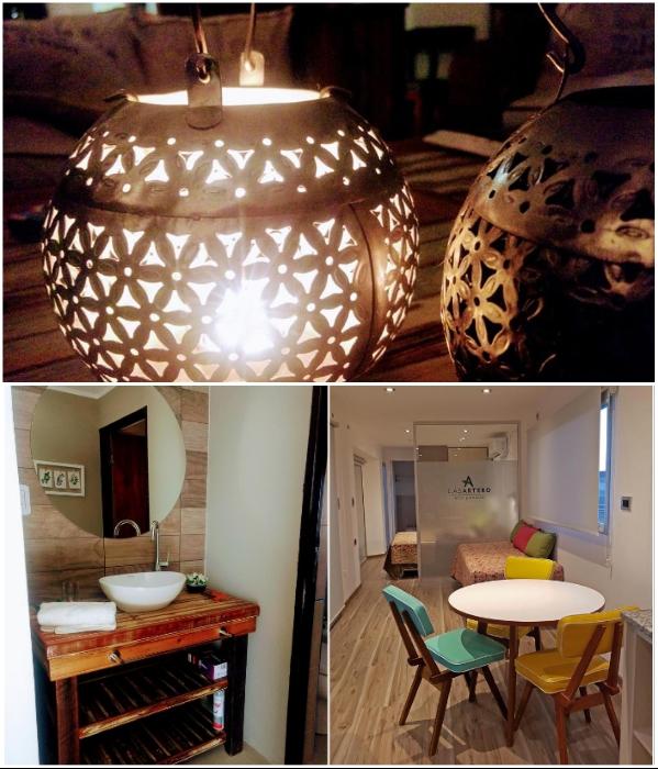 Вся внутренняя отделка, мебель и даже светильники сделаны из экологически чистых материалов («CasArtero Eco Posada», Сан-Рафаэль). | Фото: glampinghub.com/ booking.com.