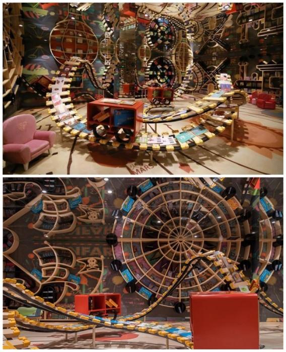 Детский зал магазина организован в виде игровой площадки (Книжный магазин в Ханчжоу, Китай). kinderlibrary.wordpress.com.