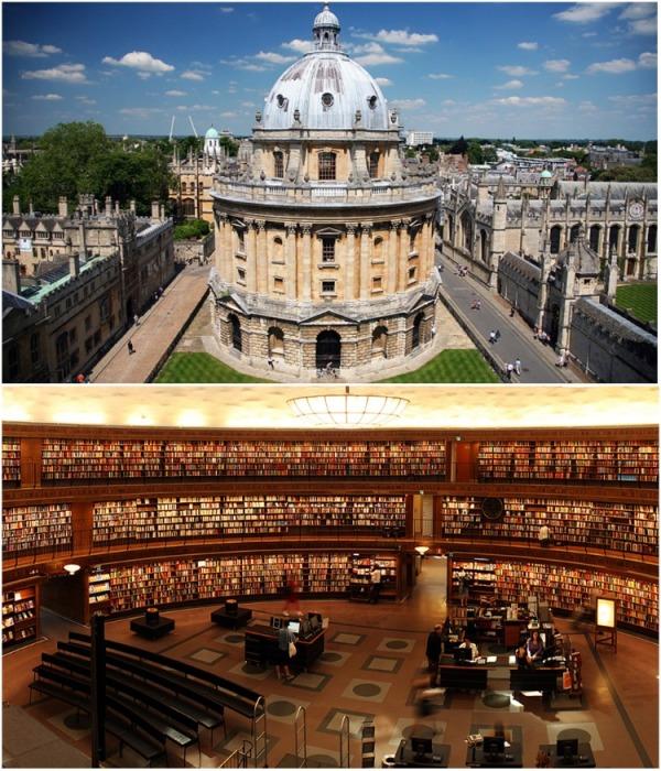 Radcliffe Camera – самая крупная библиотека Оксфорда, ее фонд насчитывает около 6 млн. книг (University of Oxford , Великобритания). | Фото: farta.livejournal.com.