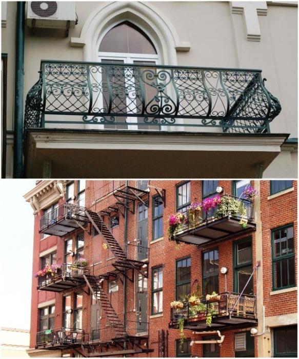 Не все балконы можно остеклять, а в некоторых случаях даже запрещено менять их конфигурацию. | Фото: metasold.com.