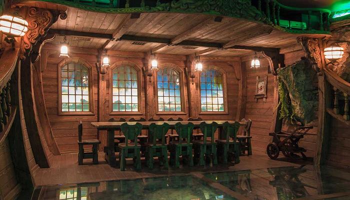 Интерьер подземного ресторана («Замок Гарибальди», с. Хрящевка). | Фото: garibaldicastle.com.
