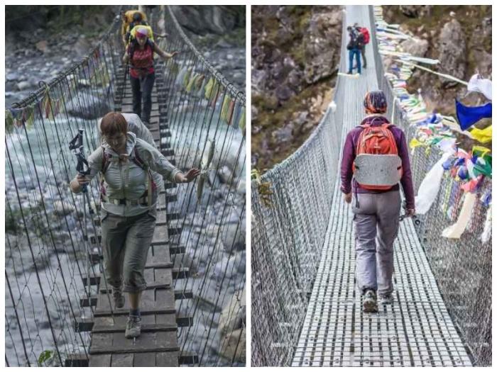 Современные подвесные мосты более безопасны, но не менее жуткие. | Фото: outdoorukraine.com.