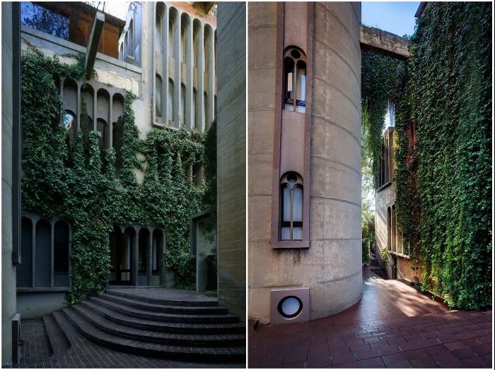 Вьющиеся растения украсили фасады промышленных корпусов, превратившихся в жилые апартаменты «La Fabrica».   Фото: magazindomov.ru.