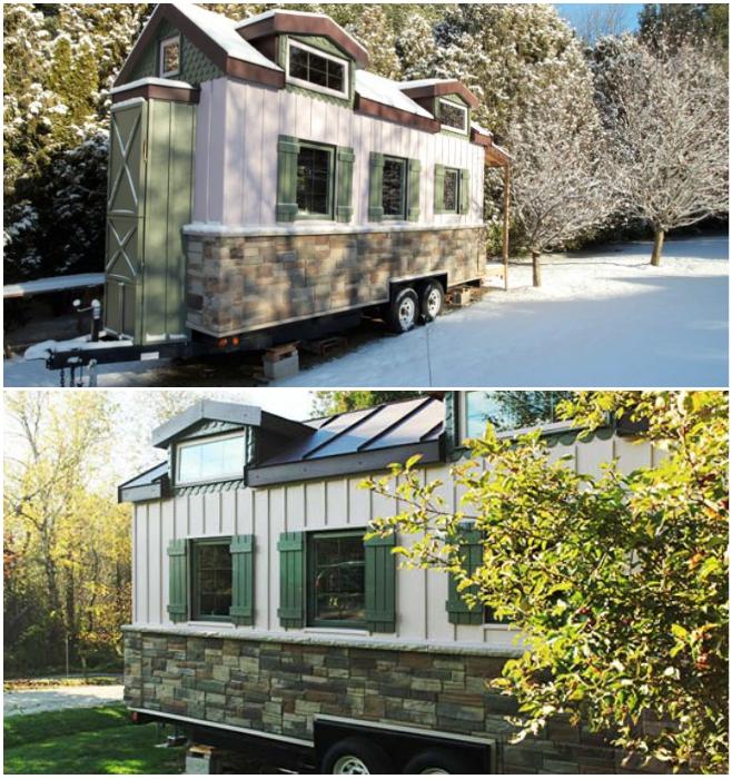 Донат Плентер гордится тем, что его крошечный дом хоть похож на настоящий. | Фото: tiny-house.me.