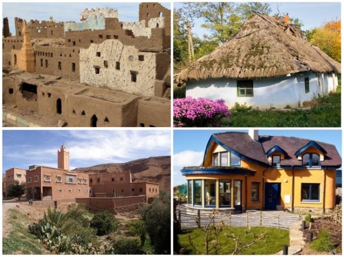 Практически на всех континентах для строительства жилья использовались кирпичи из глины. | Фото: ru.wikipedia.org.