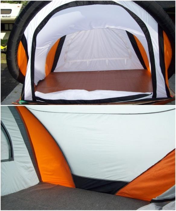 Внутреннее пространство ScarabRV ничем не отличается от обычной палатки, только его конструкция собирается за 60 сек. и без участия человека. / newatlas.com.