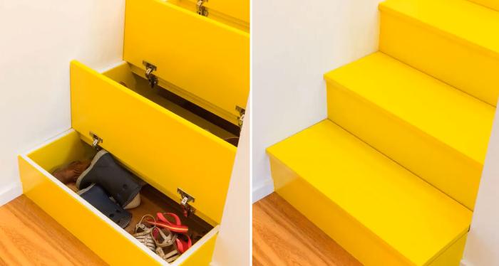 Вот такая яркая многофункциональная лестница будет отлично смотреться в детской комнате. | Фото: apartmenttherapy.com.