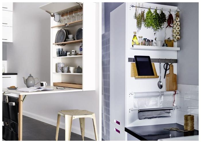 Рациональное использование всех вертикальных площадей не кухне. | Фото: cpykami.ru.