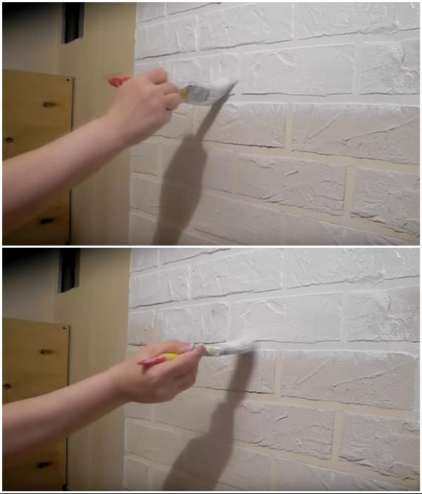 После высыхания слоя шпаклевки нужно прогрунтовать поверхность, а потом нанести 2 слоя краски. | Фото:  youtube.com/ © Екатерина Басми.