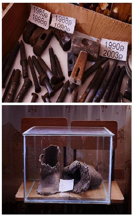 Музейные экспонаты.