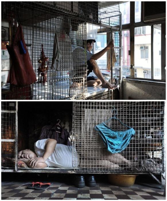 Худшего варианта проживания сложно себе придумать! («coffin homes», Гонконг). | Фото: musthaveforyou.mediasole.ru.
