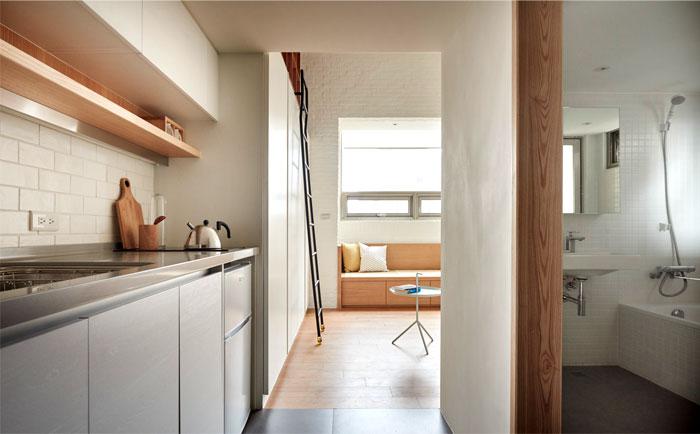 Стильный интерьер квартиры-студии.