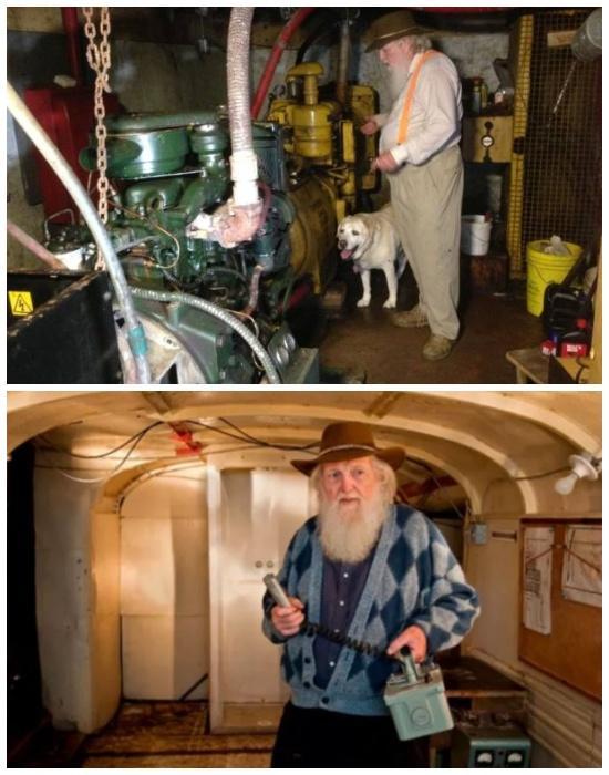 В бомбоубежище установлен генератор для выработки электроэнергии и проложена телефонная связь (Ark Two, Канада).