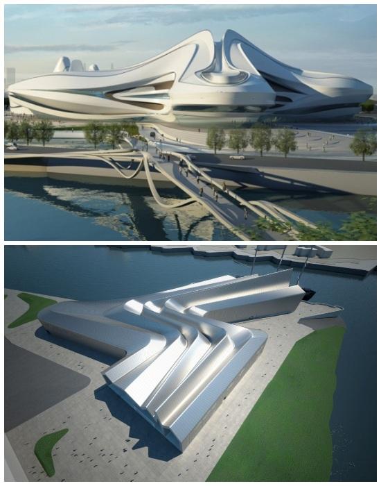 Международный центр культуры и искусства Чанша и Музей транспорта Riverside в Глазго (работы Захи Хадид). | Фото: womo.ua.