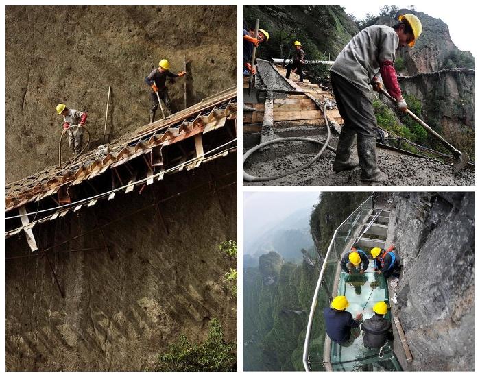 Несмотря на огромную высоту, строители чувствуют себя спокойно и уверенно. | Фото: achievementsnews.co.uk.