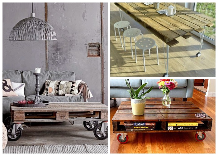 К конструкции можно прикрепить мебельные ролики, тогда столик будет мобилен.
