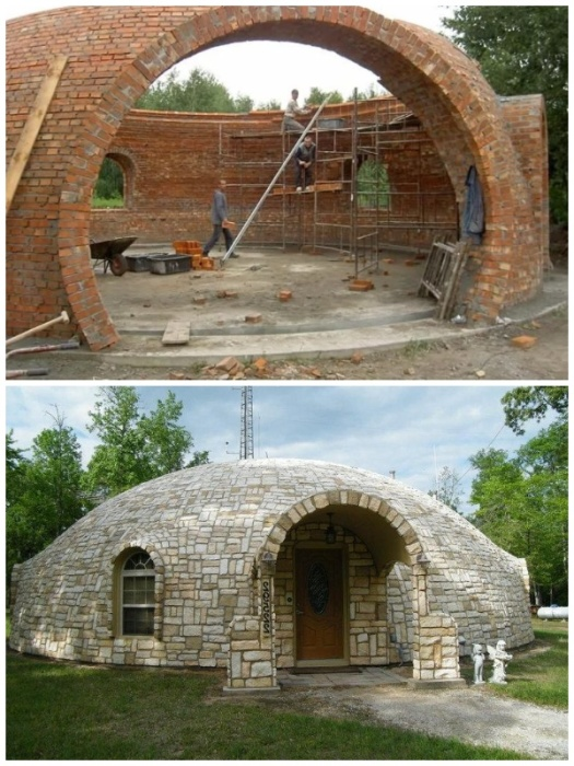 Используя подобную  технологию можно построить купольный дом. | Фото: riadmar.livejournal.com.