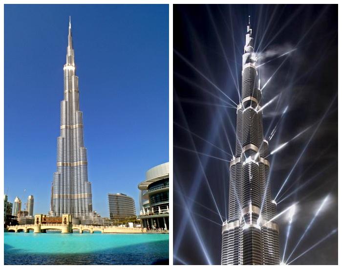 В самом высоком здании мира находятся гостиница, смотровые площадки, торговые центры, жилые апартаменты (Бурдж Халифа, Дубай). | Фото: projectorsolution.net.