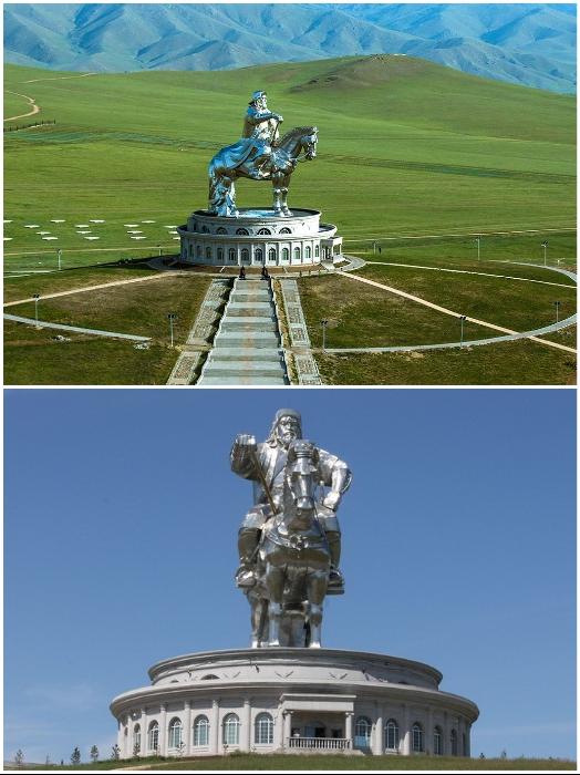 50-метровая статуя Чингисхана считается самой крупной конной статуей в мире (Цонжин-Болдог, Монголия). | Фото: putidorogi-nn.ru/ tamerlankm.blogspot.com.