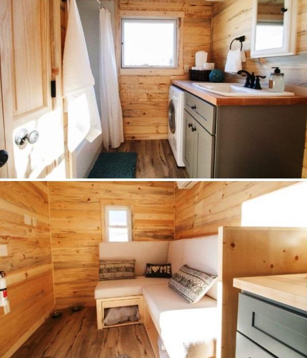 В такой комплектации Адель приобрела свой дом на колесах, а оформлением интерьера занималась сама. | Фото: nb.teepr.com.