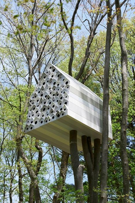 Дом-скворечник может поместить 78 птиц (Япония). | Фото:ogorod.mirtesen.ru.
